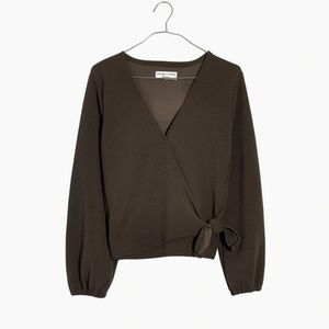 NWT Madewell Plus Texture & Thread Crepe Wrap Top